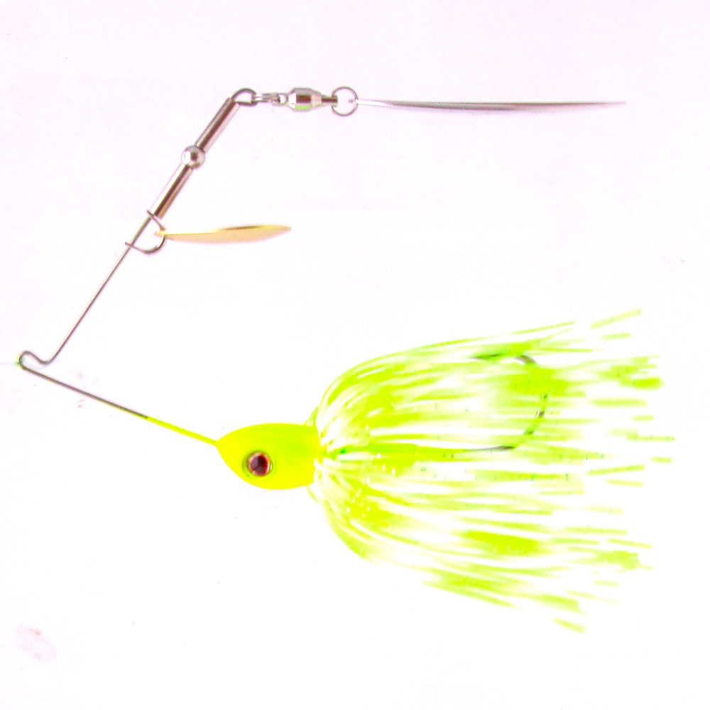 Chartreuse White Combination Spinnerbait Frugal Lures